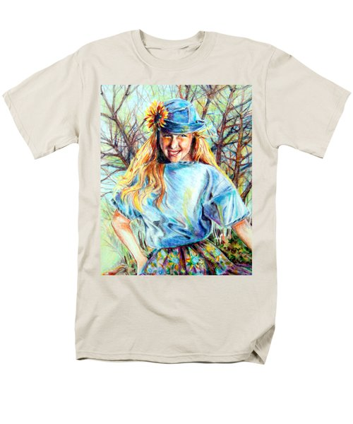 Happy Girl Men's T-Shirt  (Regular Fit)
