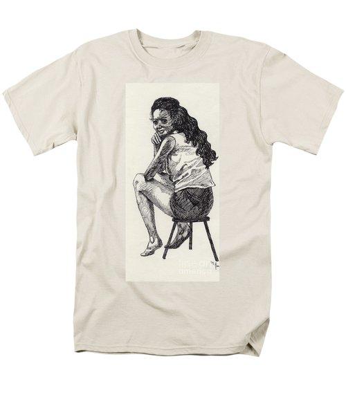 Happy Greeting Men's T-Shirt  (Regular Fit) by Annemeet Hasidi- van der Leij
