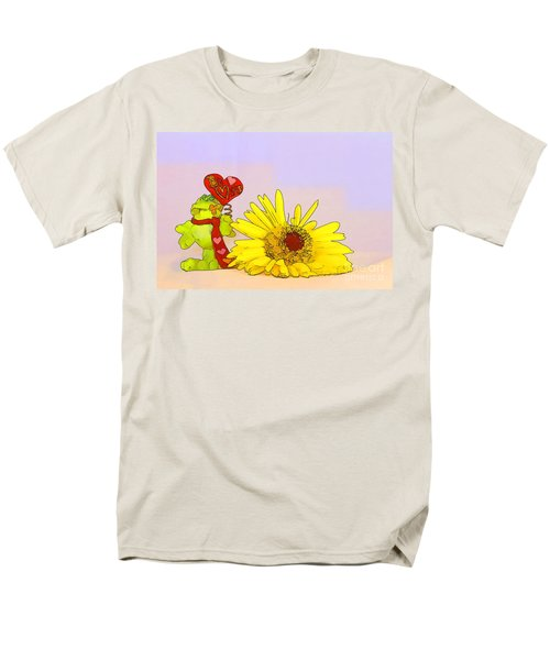 Happy Valentine's Day Men's T-Shirt  (Regular Fit) by Teresa Zieba