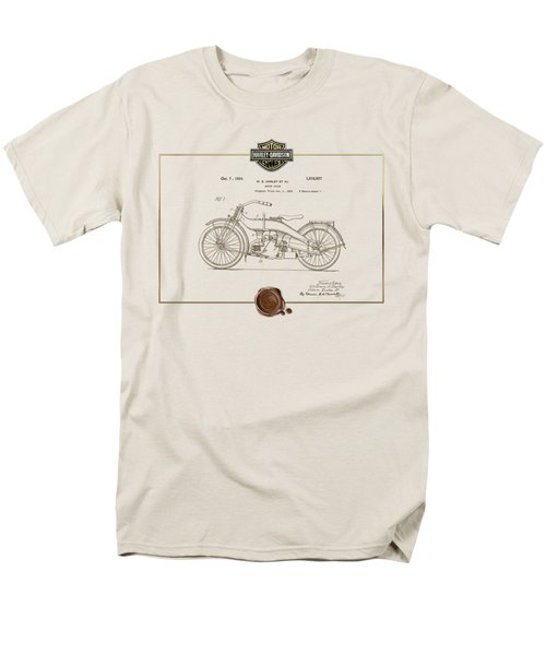 Men's T-Shirt  (Regular Fit) featuring the digital art Harley-davidson 1924 Vintage Patent Document  by Serge Averbukh