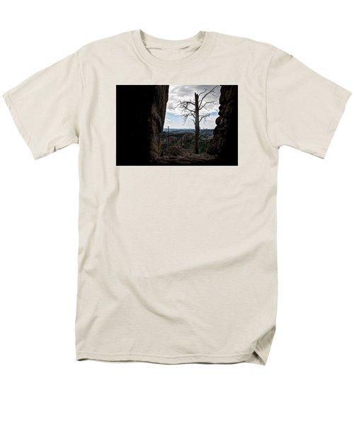Men's T-Shirt  (Regular Fit) featuring the photograph Harney Peak Lookout by Deborah Klubertanz