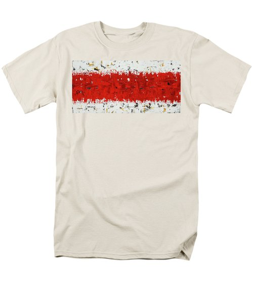 Men's T-Shirt  (Regular Fit) featuring the painting Hashtag Red - Abstract Art by Carmen Guedez