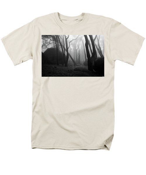 Men's T-Shirt  (Regular Fit) featuring the photograph Haunted Woods by Jorge Maia