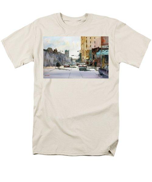 Heading West On College Avenue - Appleton Men's T-Shirt  (Regular Fit) by Ryan Radke