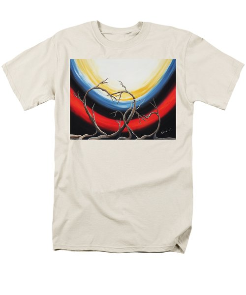 Men's T-Shirt  (Regular Fit) featuring the painting Hearts by Edwin Alverio