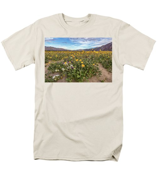 Men's T-Shirt  (Regular Fit) featuring the photograph Henderson Canyon Super Bloom by Peter Tellone