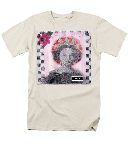 Men's T-Shirt  (Regular Fit) featuring the mixed media Hero by Desiree Paquette