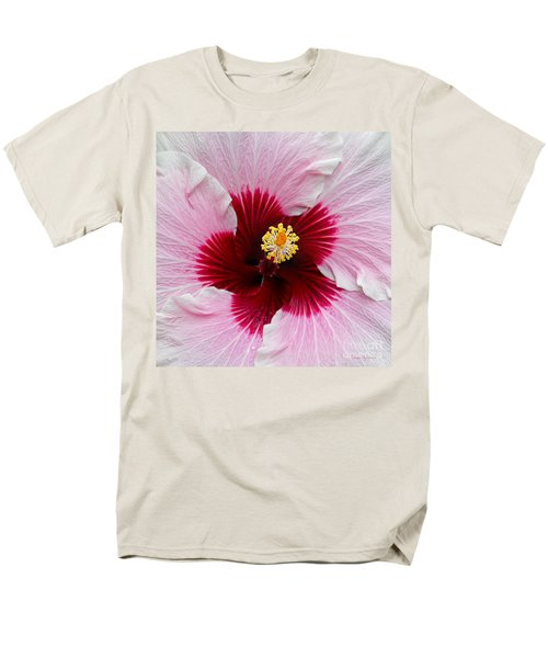 Hibiscus With Cherry-red Center Men's T-Shirt  (Regular Fit) by Susan Wiedmann