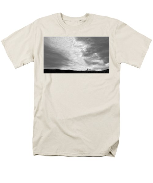 Men's T-Shirt  (Regular Fit) featuring the photograph Hikers Under The Clouds by Joe Bonita