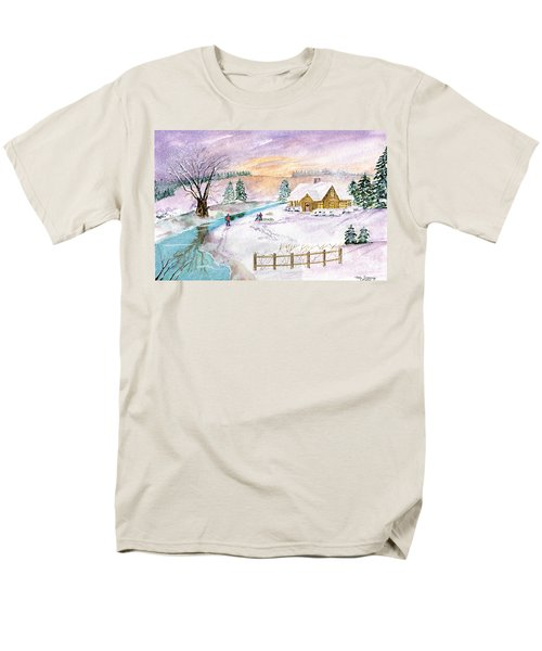 Men's T-Shirt  (Regular Fit) featuring the painting Home For Christmas by Melly Terpening