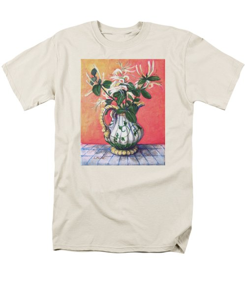 Men's T-Shirt  (Regular Fit) featuring the painting Honeysuckle by Laura Aceto