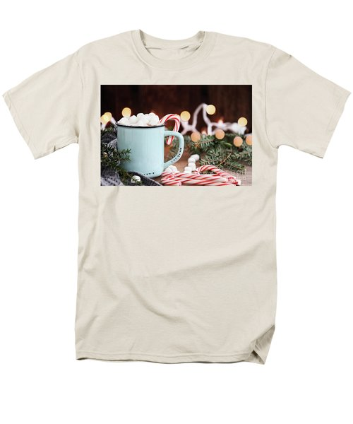 Hot Cocoa With Marshmallows And Candy Canes Men's T-Shirt  (Regular Fit)