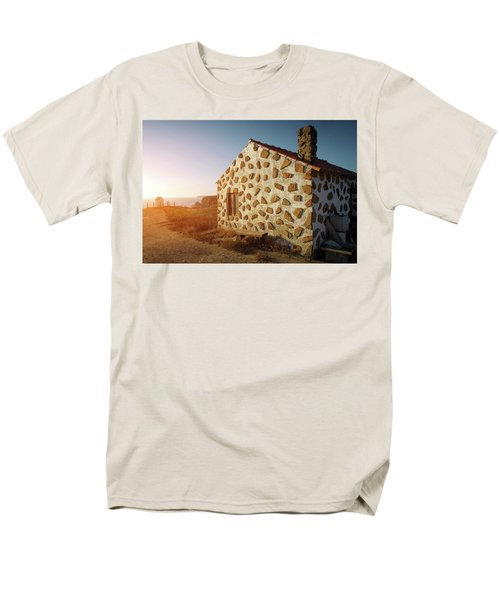 Men's T-Shirt  (Regular Fit) featuring the photograph House On The Cliff by Carlos Caetano