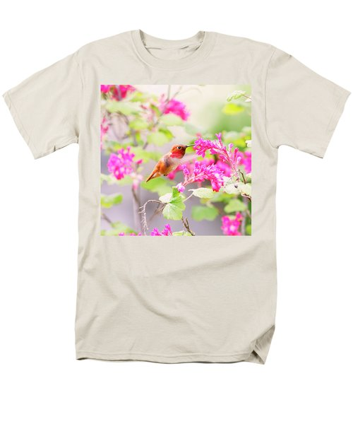 Hummingbird In Spring Men's T-Shirt  (Regular Fit) by Peggy Collins