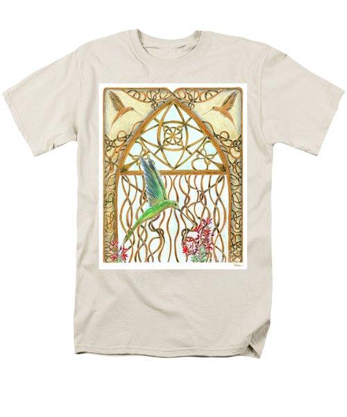 Hummingbird Sanctuary Men's T-Shirt  (Regular Fit) by Lise Winne