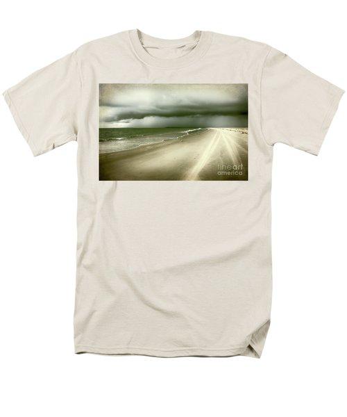 Hurricane Storm Ocracoke Island Outer Banks Men's T-Shirt  (Regular Fit) by Dan Carmichael