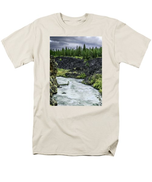 I Am River Hear Me Roar Men's T-Shirt  (Regular Fit) by Nancy Marie Ricketts