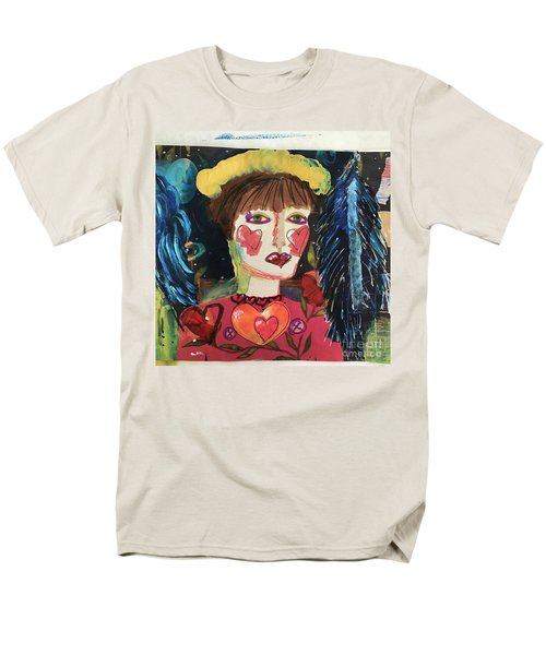 Men's T-Shirt  (Regular Fit) featuring the painting I Carry Your Heart In My Heart by Kim Nelson