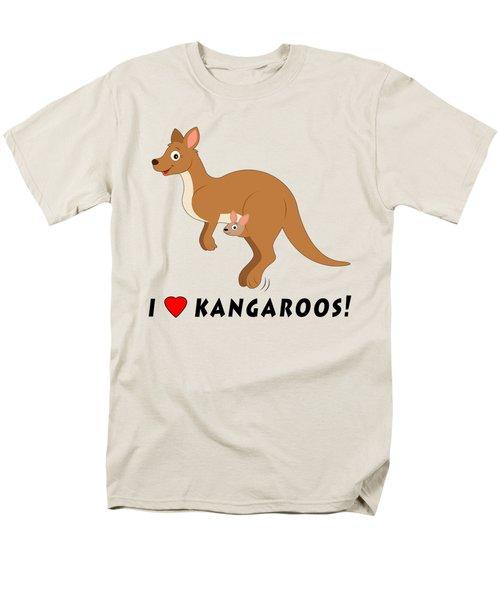 I Love Kangaroos Men's T-Shirt  (Regular Fit) by A