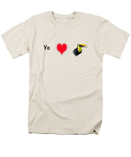 I Love Toucans Men's T-Shirt  (Regular Fit) by Paul  Gerace