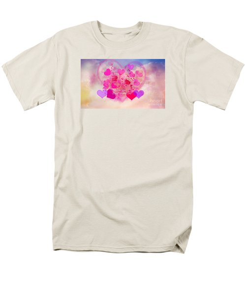 I Love You..happy Valentines Day Men's T-Shirt  (Regular Fit) by Sherri's Of Palm Springs