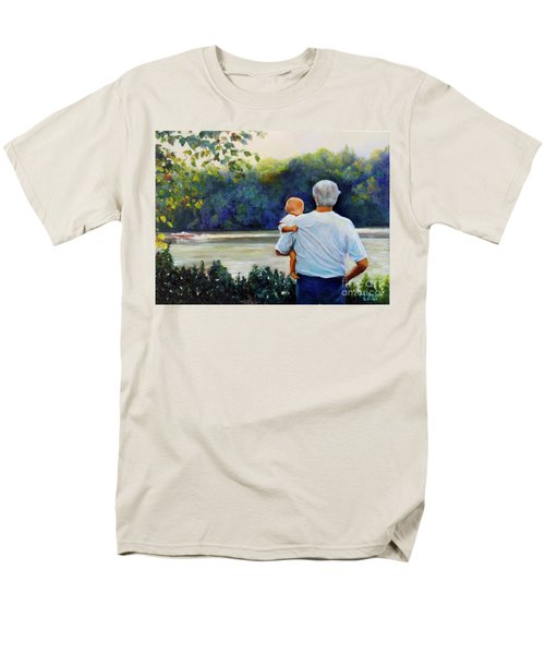 Ian And His Daddy One Sunday Afternoon Men's T-Shirt  (Regular Fit) by Marlene Book