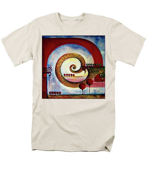 Men's T-Shirt  (Regular Fit) featuring the painting In The World Of Balance by Anna Ewa Miarczynska