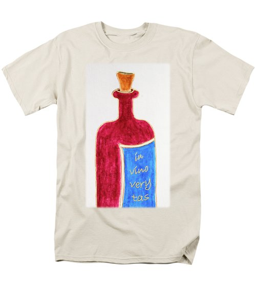 Men's T-Shirt  (Regular Fit) featuring the drawing In Vino Very Tas by Frank Tschakert