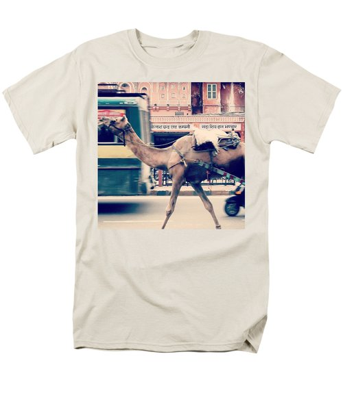 India - Where Even The Camels Overtake Men's T-Shirt  (Regular Fit)