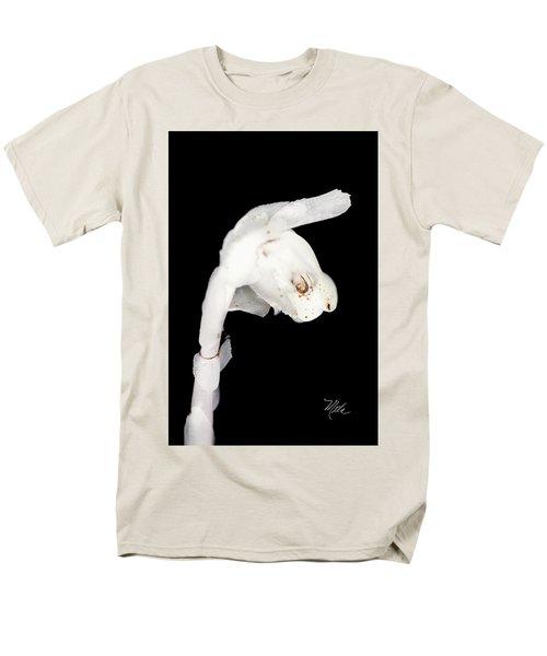 Men's T-Shirt  (Regular Fit) featuring the photograph Indian Pipe Head by Meta Gatschenberger