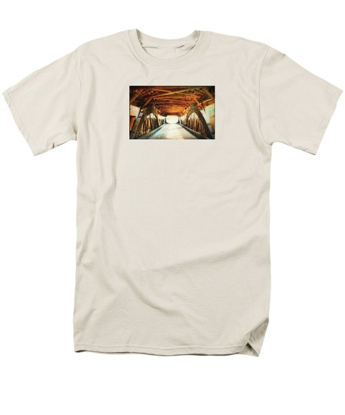 Inside A Covered Bridge Men's T-Shirt  (Regular Fit) by Robin Regan
