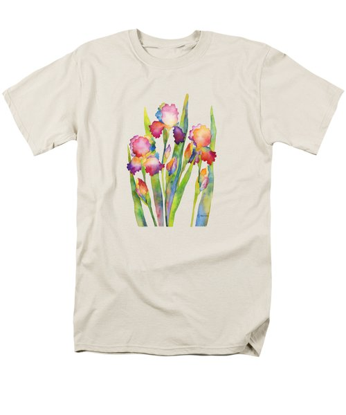 Men's T-Shirt  (Regular Fit) featuring the painting Iris Elegance by Hailey E Herrera
