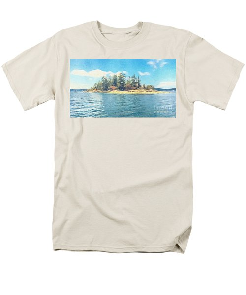 Men's T-Shirt  (Regular Fit) featuring the photograph Island In The Sound by William Wyckoff