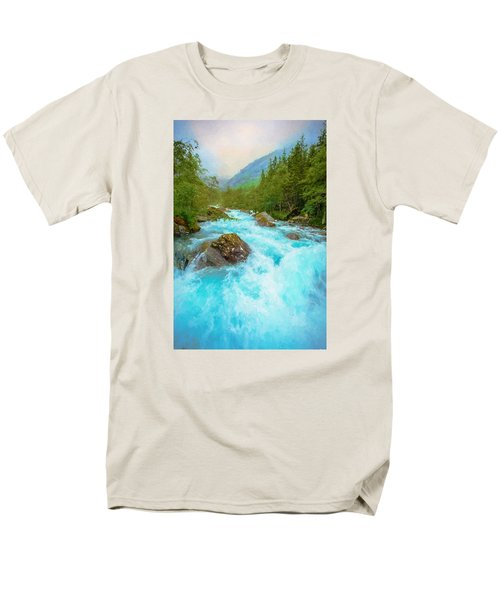 Men's T-Shirt  (Regular Fit) featuring the photograph Istra River by Rose-Maries Pictures