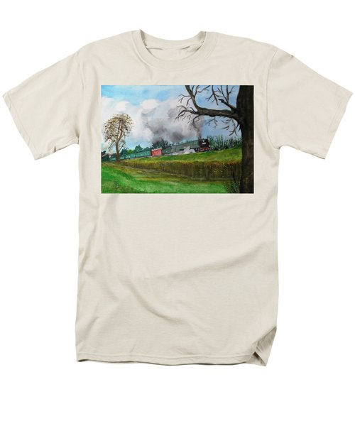 It's All Uphill To Scotland Men's T-Shirt  (Regular Fit) by Carole Robins