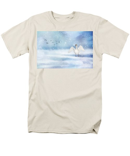 Men's T-Shirt  (Regular Fit) featuring the photograph It's Snowing by Annie Snel