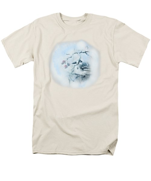 January Bluejay  Men's T-Shirt  (Regular Fit) by Susan Capuano
