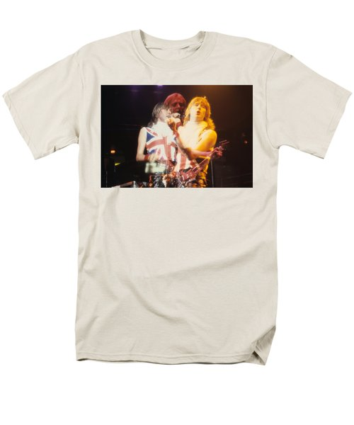 Joe And Phil Of Def Leppard Men's T-Shirt  (Regular Fit) by Rich Fuscia