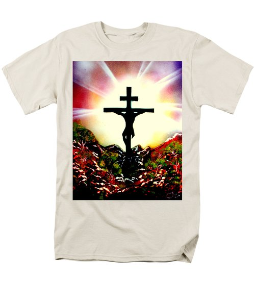 Men's T-Shirt  (Regular Fit) featuring the painting John Three Sixteen E by Greg Moores