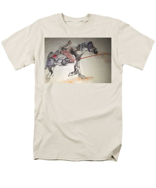 Jousting And Falcony Album  Men's T-Shirt  (Regular Fit) by Debbi Saccomanno Chan
