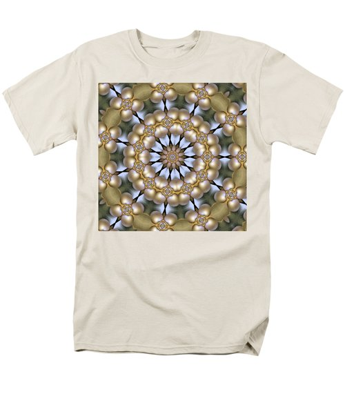 Men's T-Shirt  (Regular Fit) featuring the digital art Kaleidoscope 130 by Ron Bissett