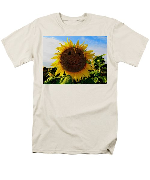 Kansas Sunflower Men's T-Shirt  (Regular Fit) by Keith Stokes