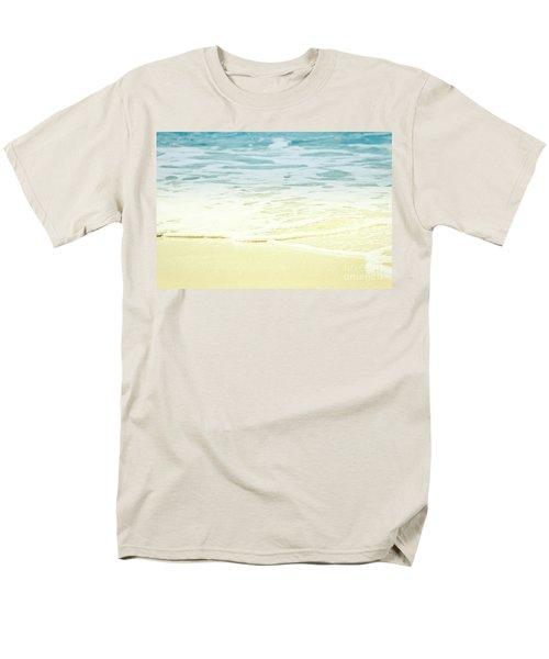 Men's T-Shirt  (Regular Fit) featuring the photograph Kapalua Beach Dream Colours Sparkling Golden Sand Seafoam Maui by Sharon Mau