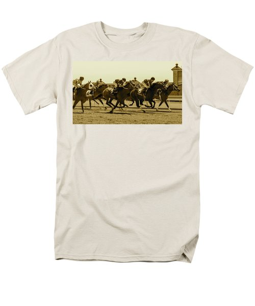 Keenland Sepia Men's T-Shirt  (Regular Fit) by Dan Hefle