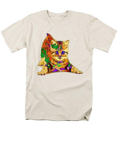 Kitty Love. Pet Series Men's T-Shirt  (Regular Fit) by Rafael Salazar