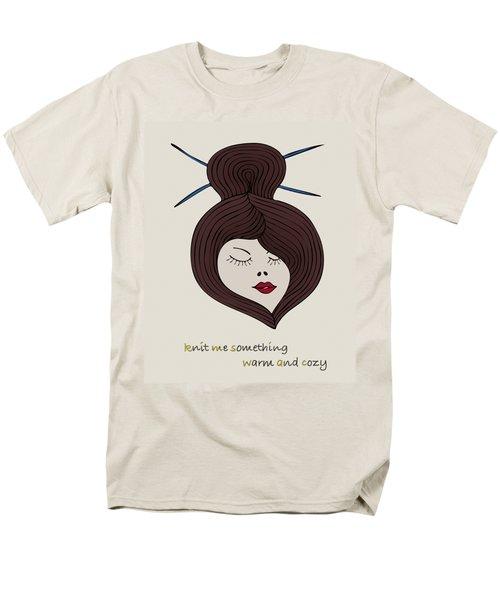 Men's T-Shirt  (Regular Fit) featuring the drawing Knitty Girl by Frank Tschakert