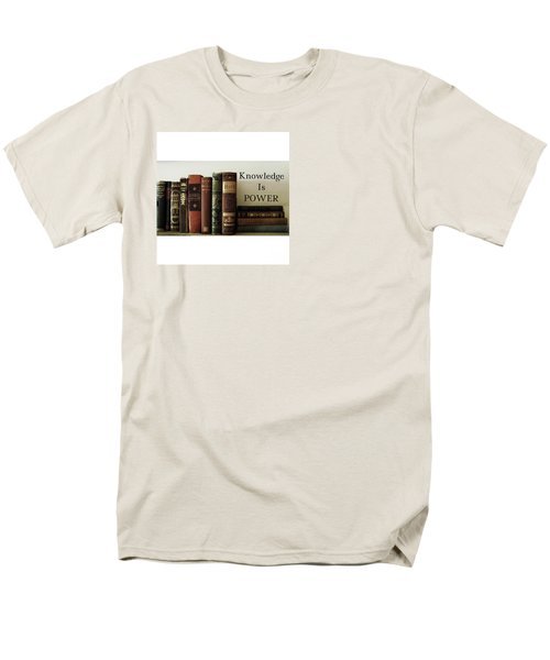 Knowledge Is Power Men's T-Shirt  (Regular Fit) by Patricia E Sundik