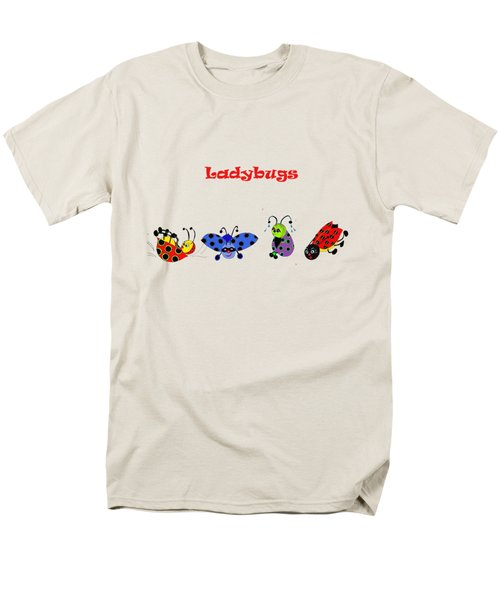 Ladybugs T-shirt Men's T-Shirt  (Regular Fit) by Karen Beasley