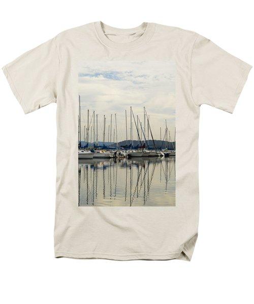 Lake Guntersville Alabama Sailboat Harbor Men's T-Shirt  (Regular Fit) by Kathy Clark