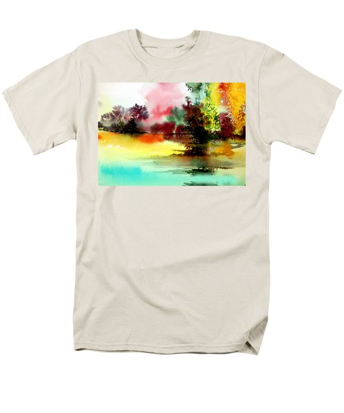 Lake In Colours Men's T-Shirt  (Regular Fit) by Anil Nene